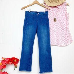 Sanctuary Marianne crop jeans with raw edge hem
